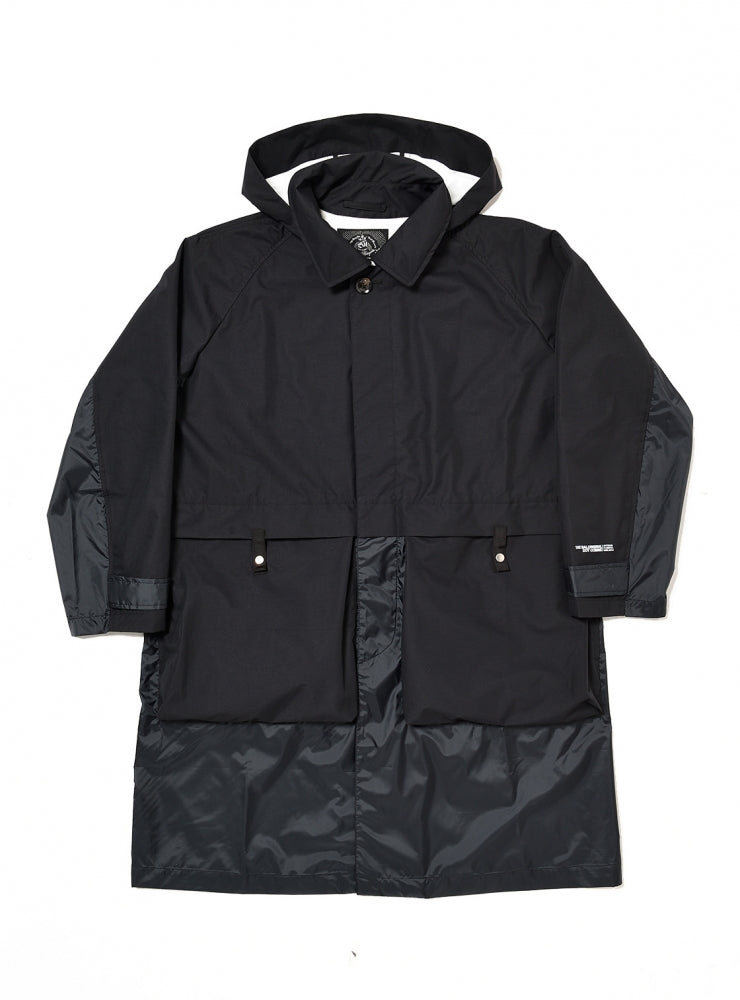 2LAYER TRENCH COAT(BLACK) -BAL