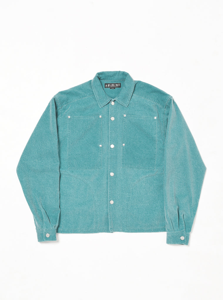 WASHED FLANNEL WORK SHIRT(TEEL) -BAL