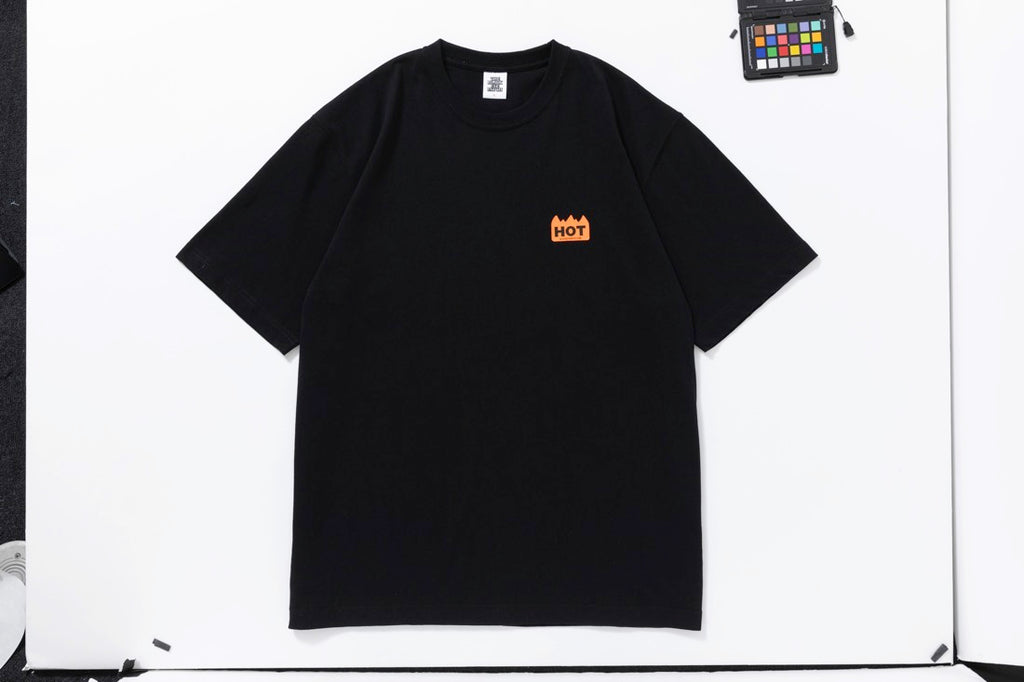 HOT LABEL TEE(BLACK) -BLACK EYE PATCH