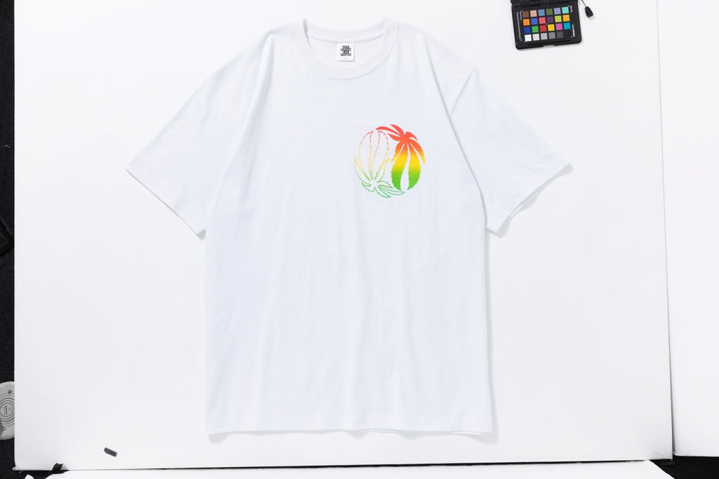 RASTA TEE(WHITE) -BLACK EYE PATCH