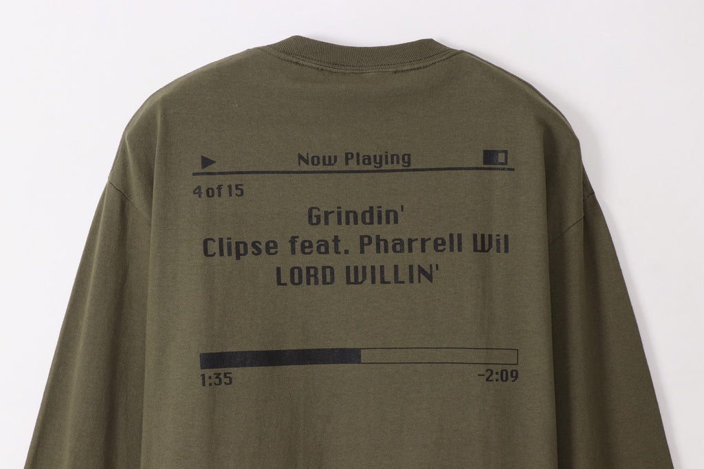 Grindin'g L/S Tee(M.Green) -THROWBACK