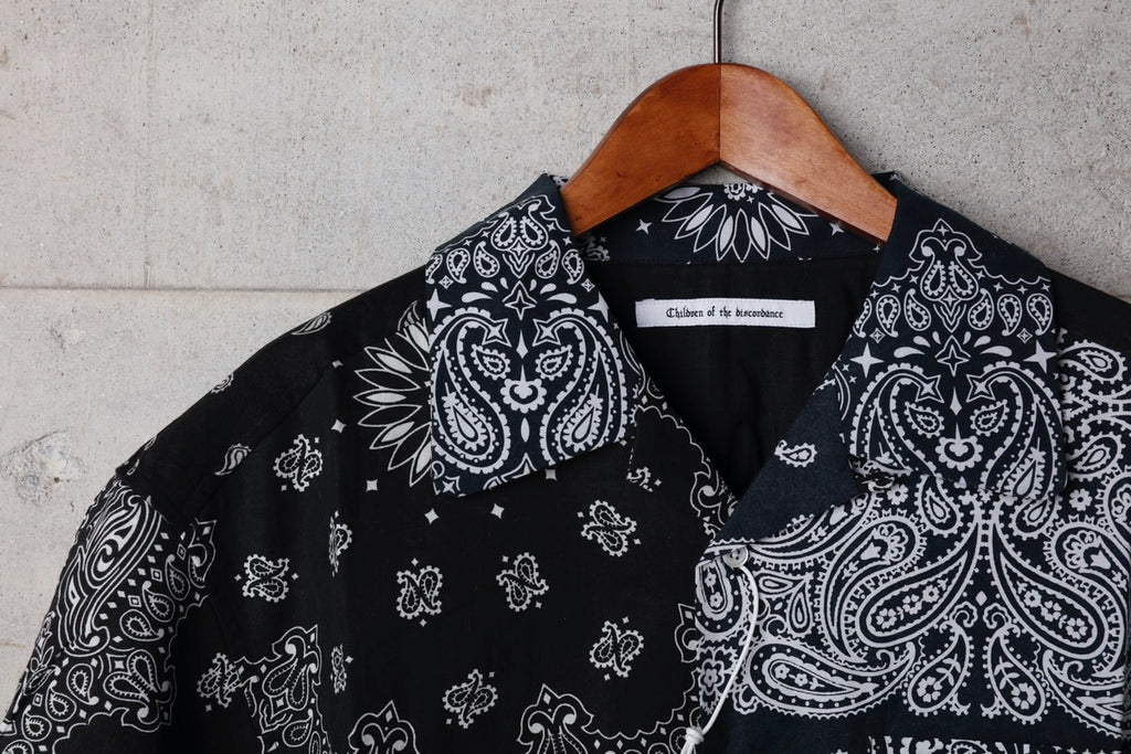 VINTAGE BANDANA PATCHWORK SHIRT SS(BLACK) -Children Of The Discordance