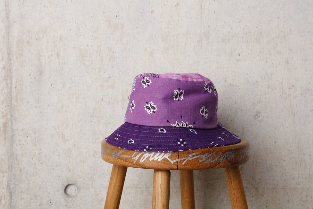 BANDANA BUCKET HAT(PURPLE) -Children Of The Discordance
