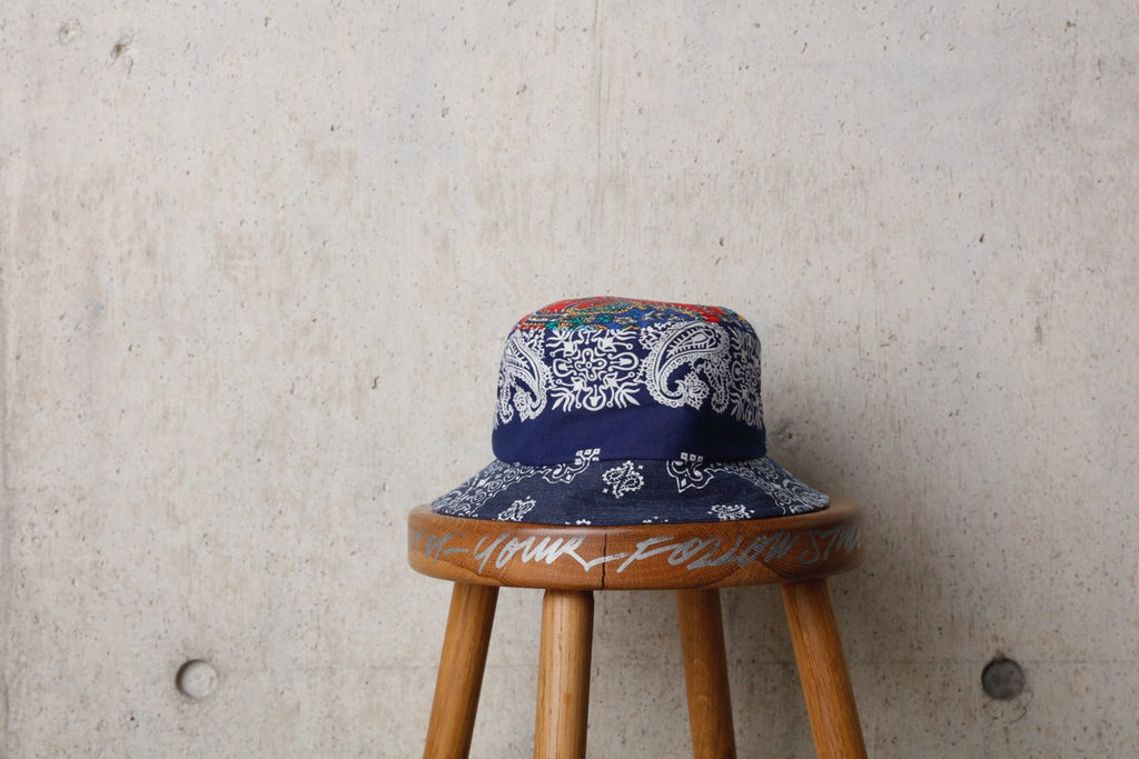 BANDANA BUCKET HAT(NAVY) -Children Of The Discordance