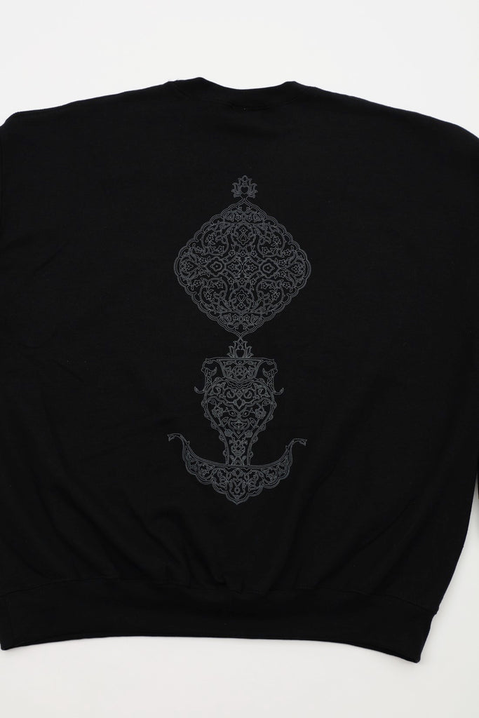 ARABESQUE CREWNECK(BLACK) -rajabrooke