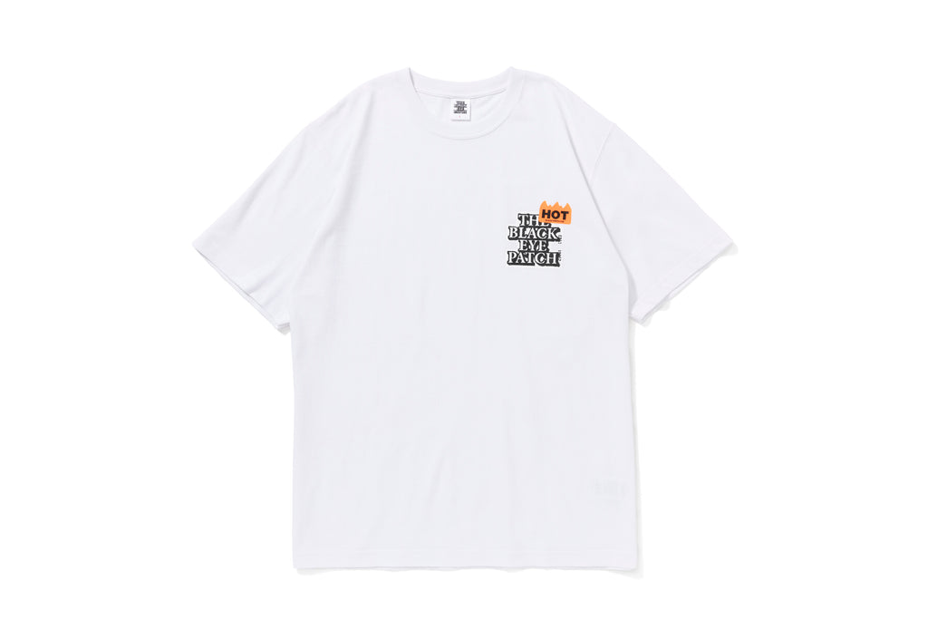 HOT LABEL TEE(WHITE) -BLACK EYE PATCH