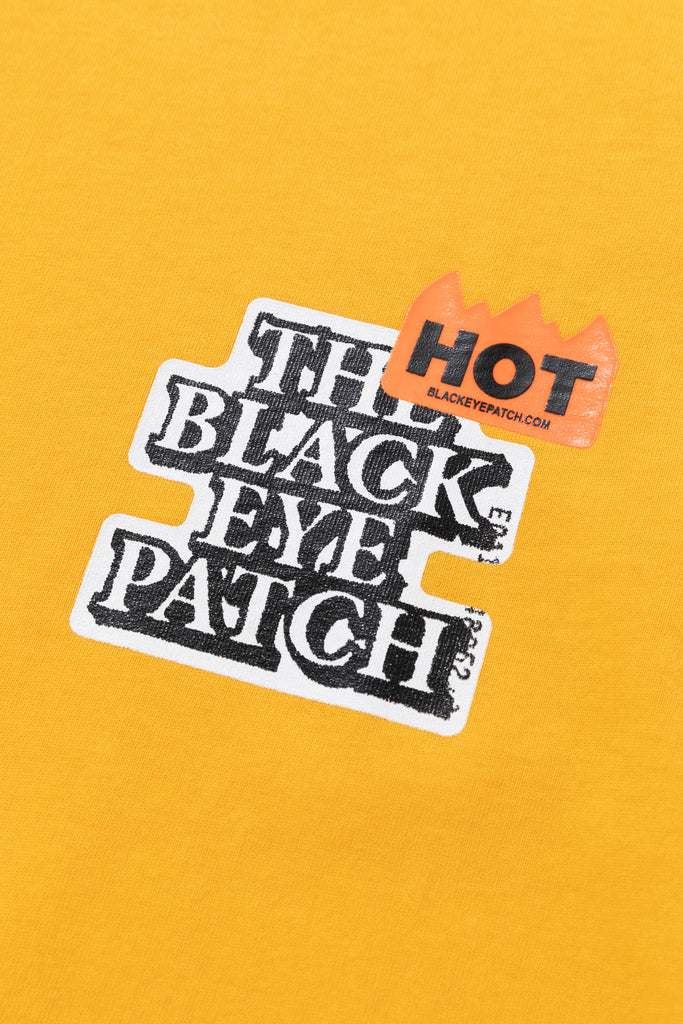 HOT LABEL TEE(YELLOW) -BLACK EYE PATCH