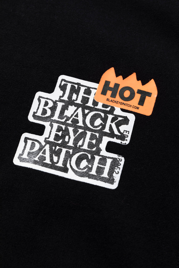 HOT LABEL HOODIE(BLACK) -BLACK EYE PATCH