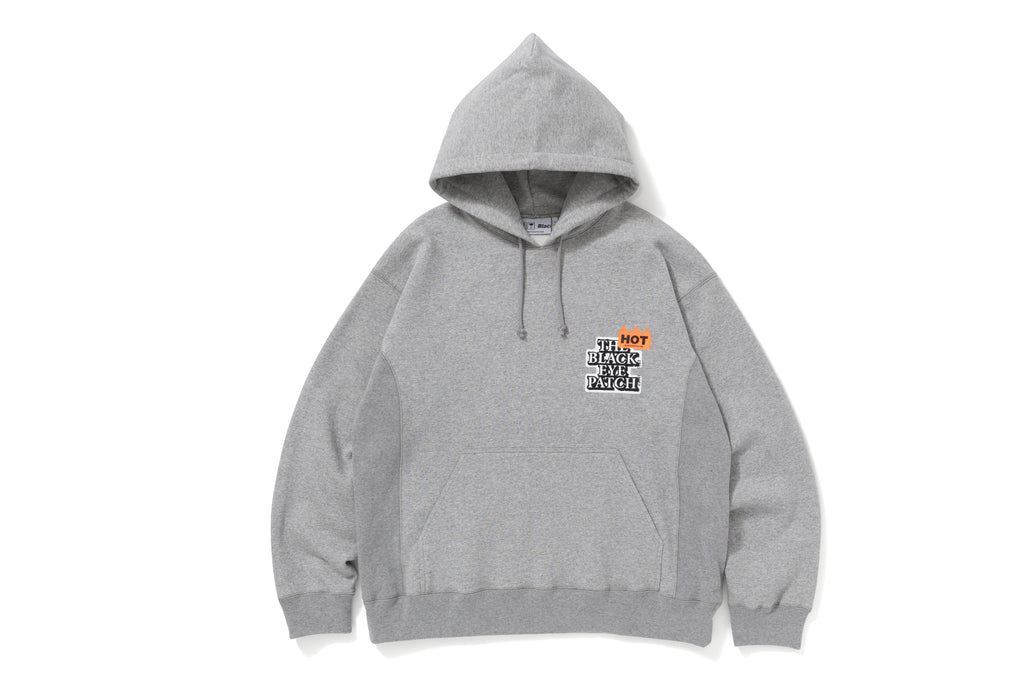 HOT LABEL HOODIE(H.GRAY) -BLACK EYE PATCH