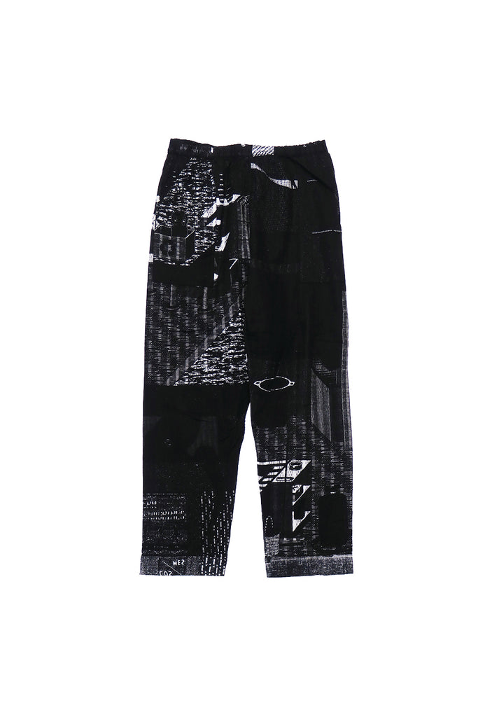 NIGHT PANTS GAUZE PIXE ROOM(BLACK) -PHINGERIN