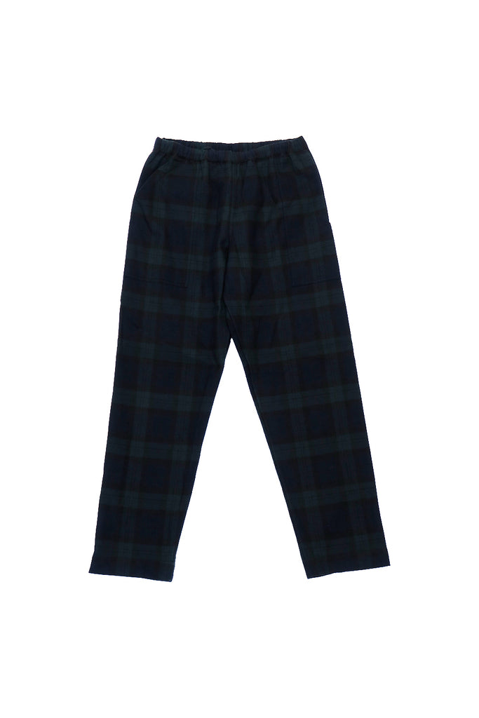 NIGHT PANTS BW WAFFLE(BLACK WATCH TARTAN) -PHINGERIN