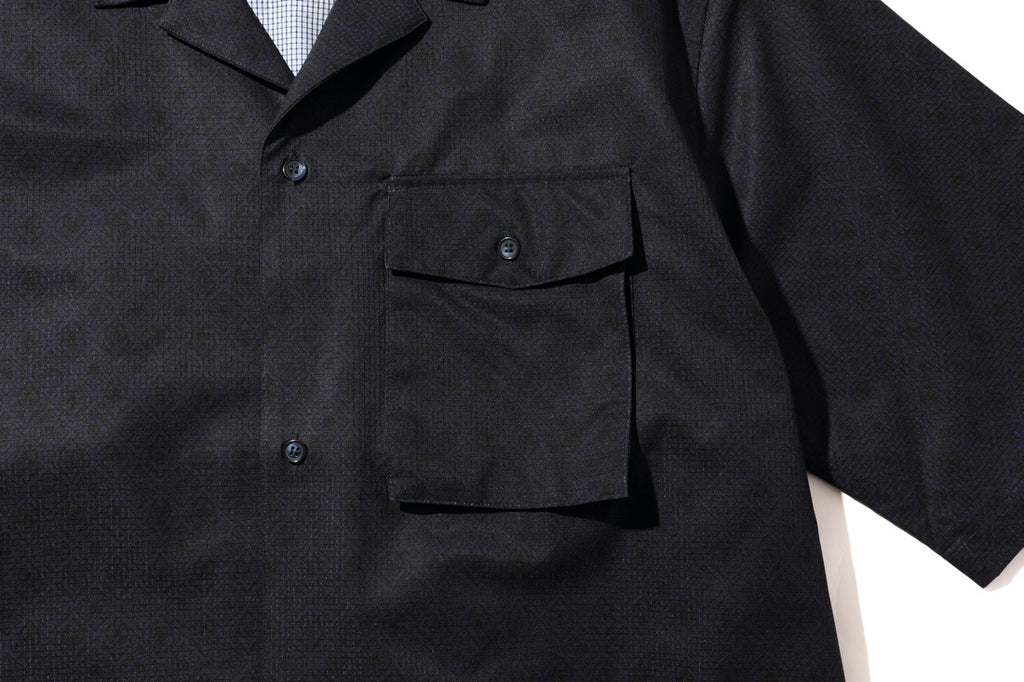 SELLESA S/S SHIRTS(NAVY) -RAJABROOKE