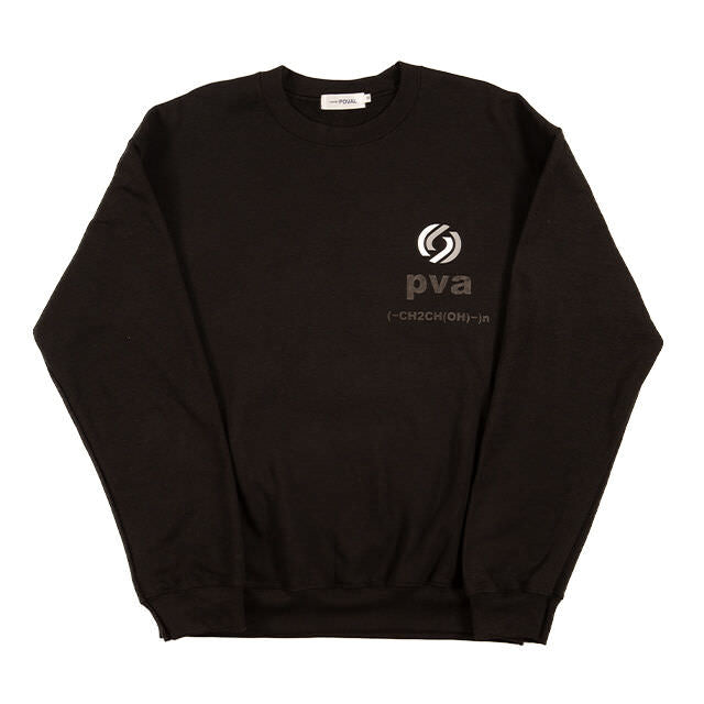 RATIONAL CREWNECK SWEATSHIRT (BLACK) -POVAL