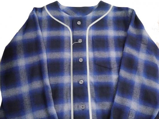 LONG SLEEVE BB SHIRT(BLUE) -FORTY FOUR- 14AW
