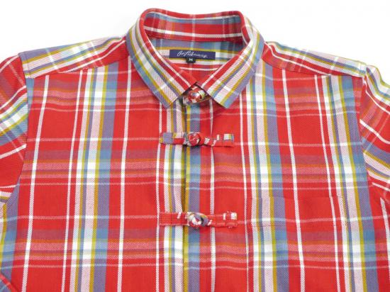 Flannel china shirts(RED) -GOFUKUSAY- 14AW