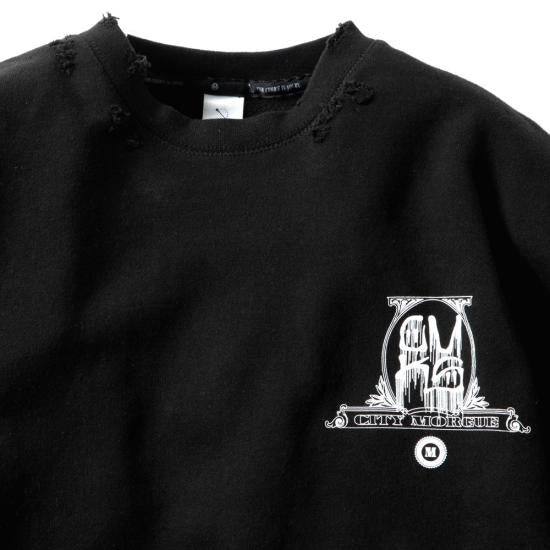DESTROY CREW SWEAT(BLACK)MAGIC STICKxCMKS 1%er Capsule collection -MAGIC STICK- 15SS