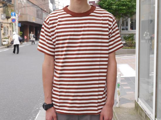 GIZA-B(WHITE×BROWN) 【ボーダーカットソー】 -VAINL ARCHIVE- 15SS