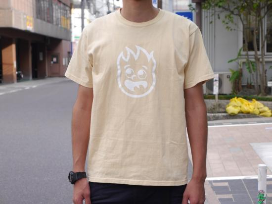 FIRE FRAME T-SHIRTS(BEIGE) -BLACK EYE PATCH- 15FW