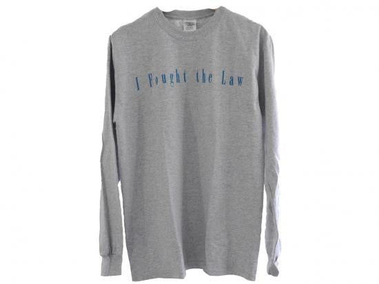 """I Fought the low"" L/S Tee(GRAY) -TR.4 SUSPENSION-"