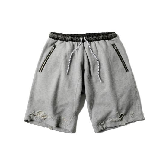 DAMAGED CHILLIN SHORTS(GRAY) -MAGIC STICK- 15FW