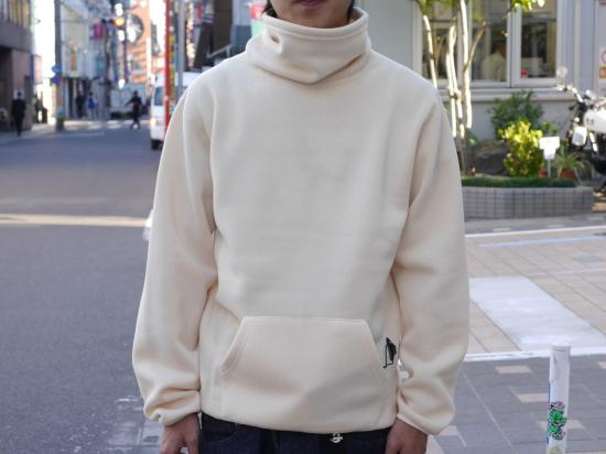 POLAR-T(WHITE) 【ハイネックフリース】 -VAINL ARCHIVE×WILD THINGS- 15FW