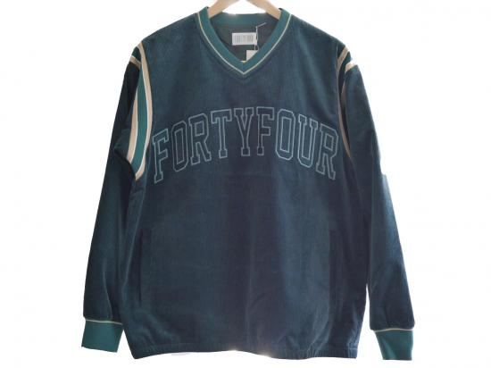 CORDUROY TEAM JACKET(DARK GREEN) -FORTYFOUR- 15FW