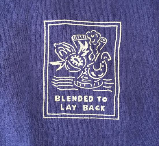 "Pile Loop ""Lay Back"" Crew Sweat(NAVY) -GOOFY CREATION-"