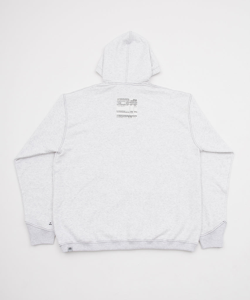 CONTRAST STITCH HOODED SWEAT SHIRT(ASH GRAY) -BAL