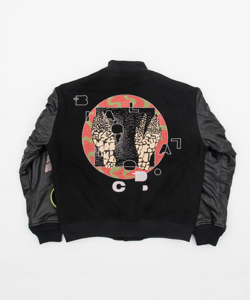 CUSTOM VERSITY JACKET(BLACK) -BAL