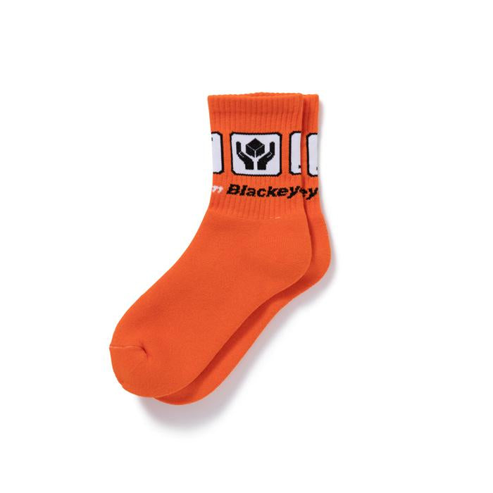 HANDLE WITH CARE SOCKS(ORANGE) -BLACK EYE PATCH