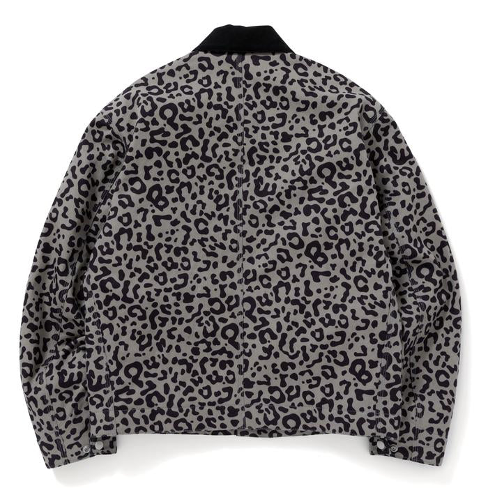 LEOPARD DUCK JACKET(GRAY) -BLACK EYE PATCH
