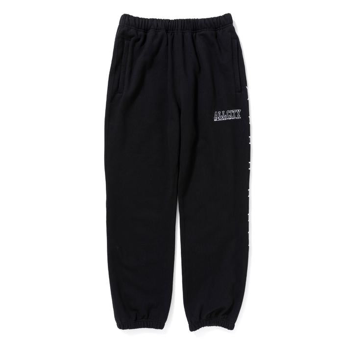 ALL CITY SWEAT PANTS(BLACK) -BLACK EYE PATCH
