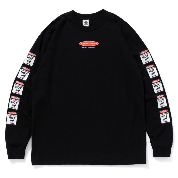 DANGER HOT LABEL L/S TEE(BLACK) -BLACK EYE PATCH