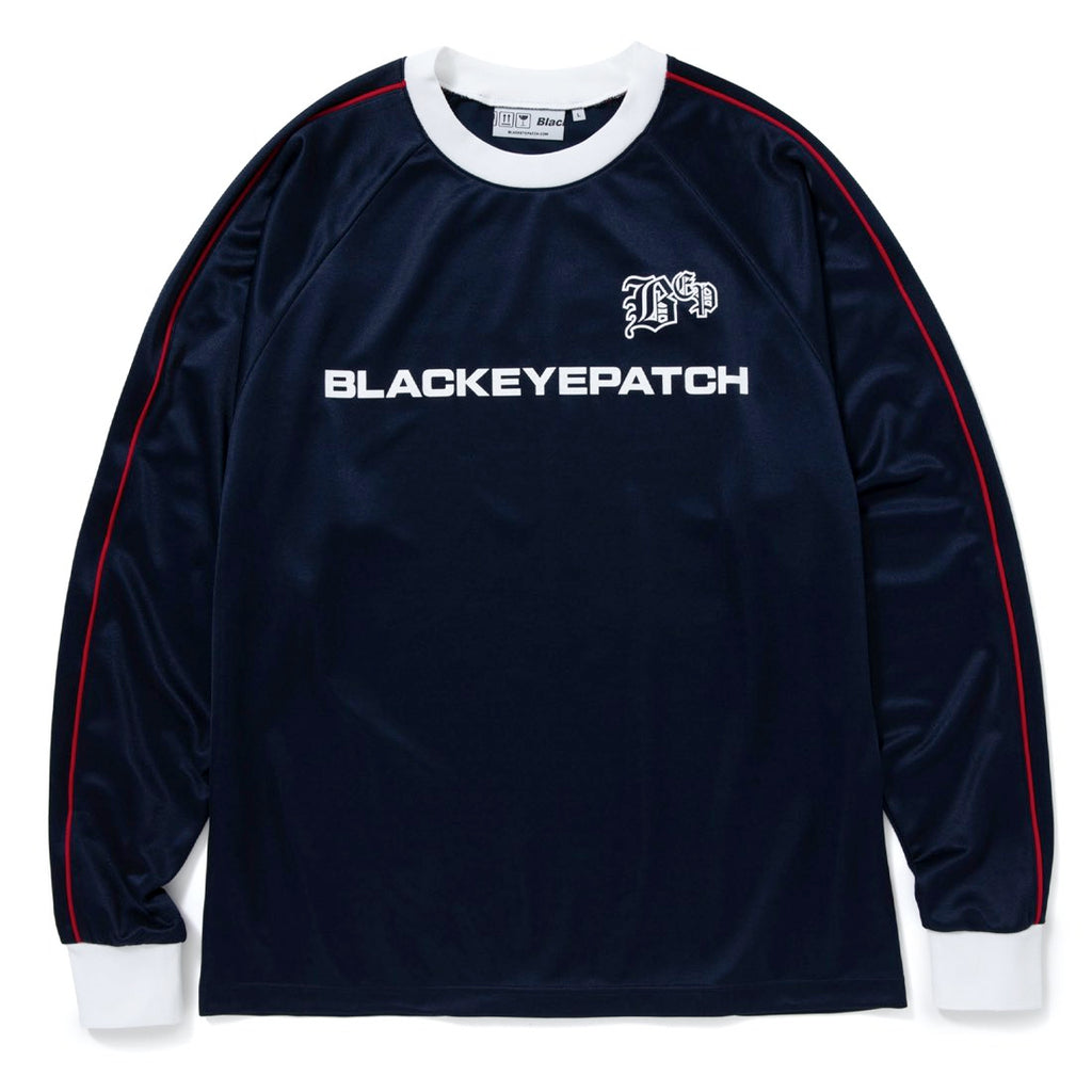 SOCCER L/S JERSEY(NAVY) -BLACK EYE PATCH