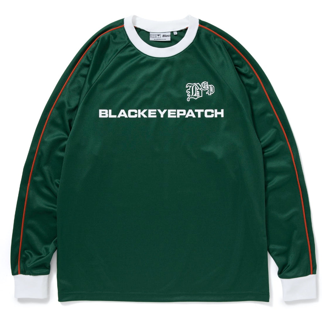 SOCCER L/S JERSEY(GREEN) -BLACK EYE PATCH