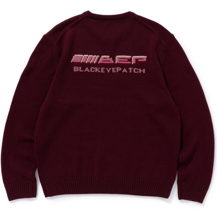 BENZO KNIT SWEATER(BURGANDY) -BLACK EYE PATCH