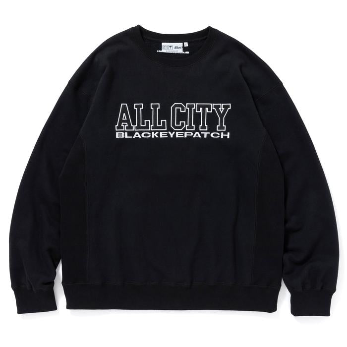 ALL CITY CREW SWEAT(BLACK) -BLACK EYE PATCH