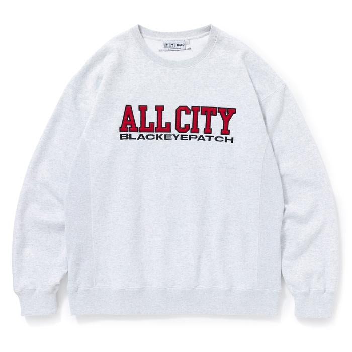 ALL CITY CREW SWEAT(ASH) -BLACK EYE PATCH