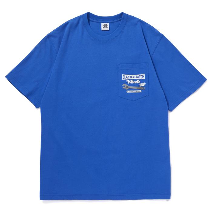 WHEELZ TEE(BLUE) -BLACK EYE PATCH