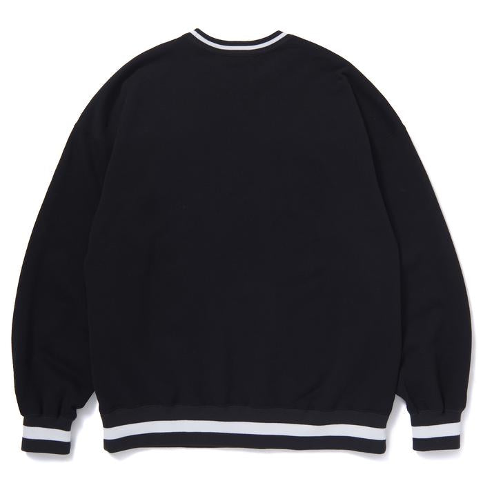 COLLEGE CREW SWEAT(BLACK) -BLACK EYE PATCH