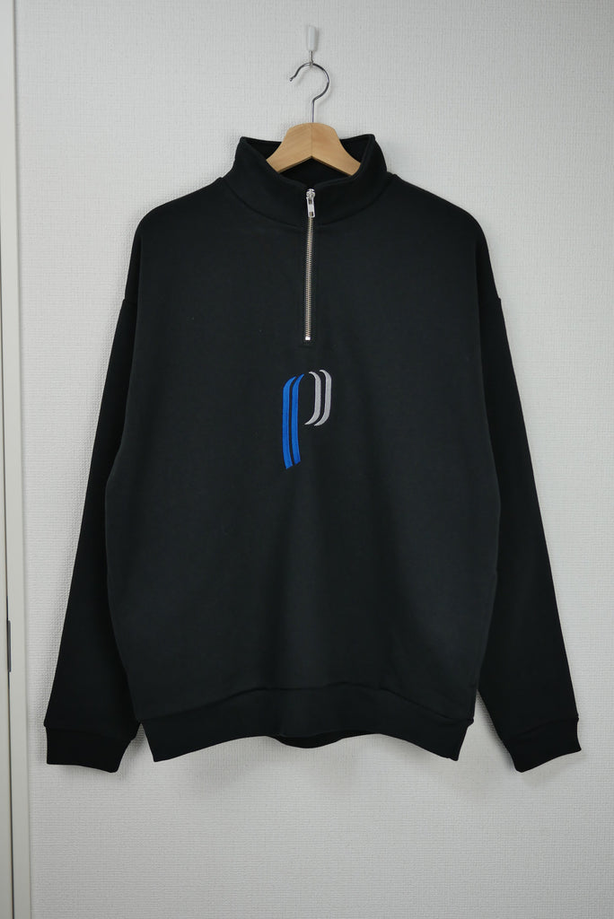 Hazard Half Zip Sweatshirt(BLACK) -POVAL