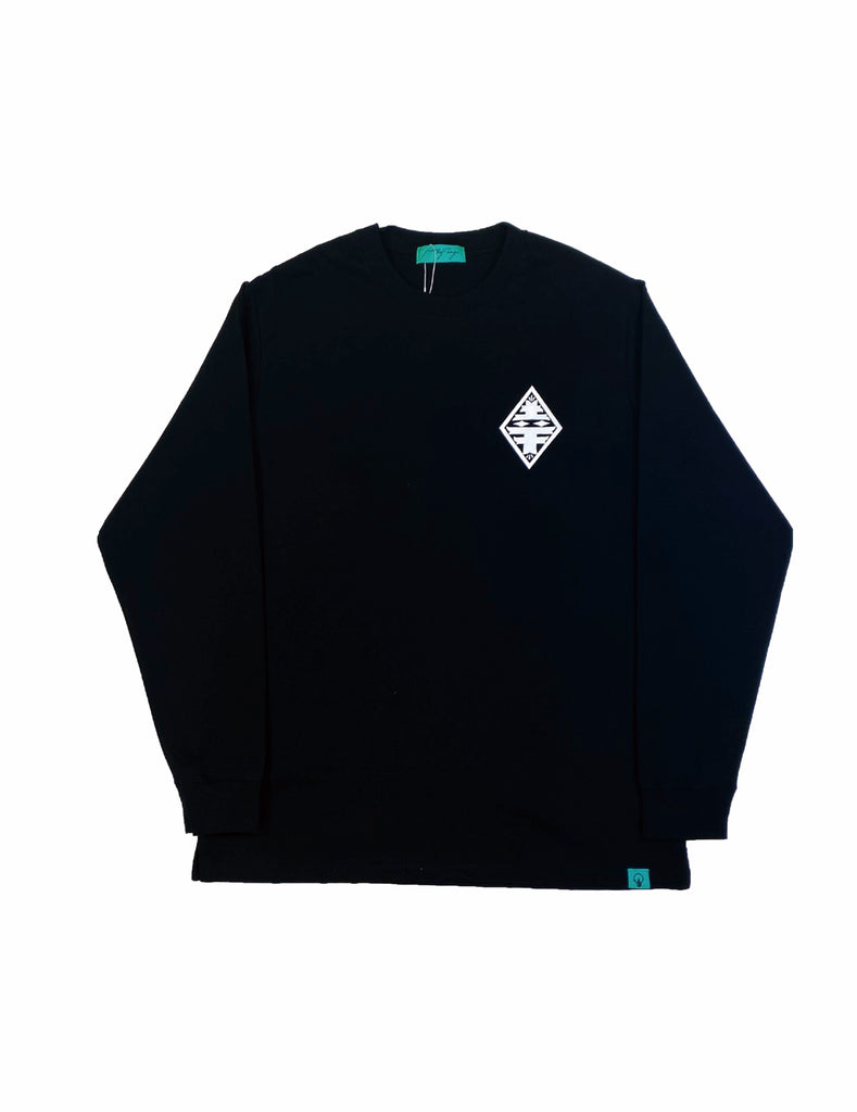ESOW L/S TEE(BLACK) -PIECE OF FLAGS
