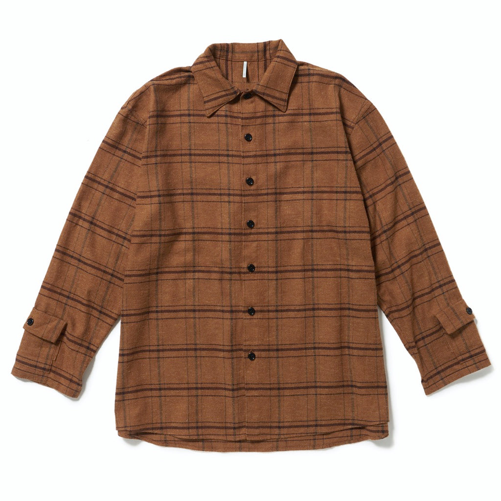 NOISE CHECK SHIRTS(BROWN CHECK) -ETHOS