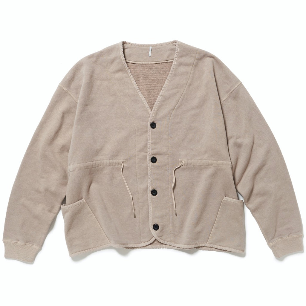 WOOLY CARDIGAN(MOUSE GRAY) -ETHOS