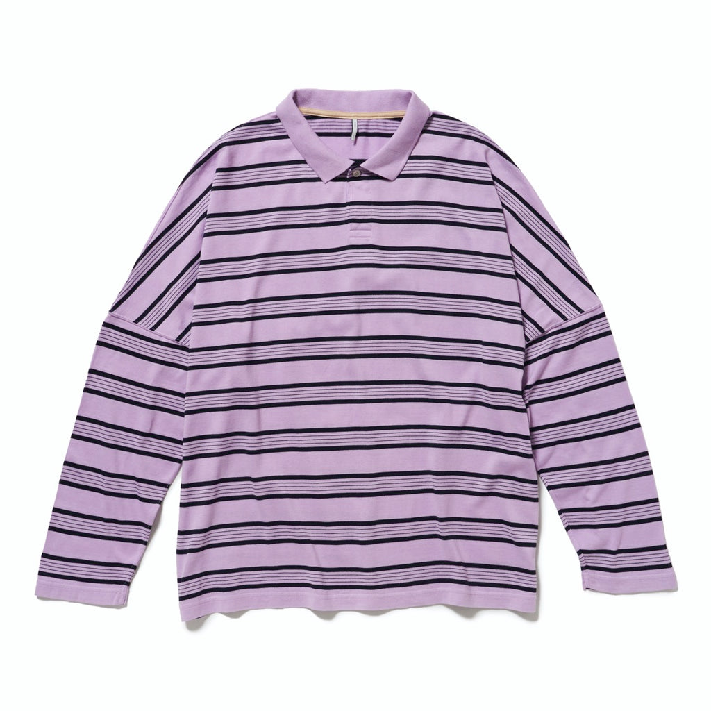 BORDER LONG POLO(LAVENDER) -ETHOS