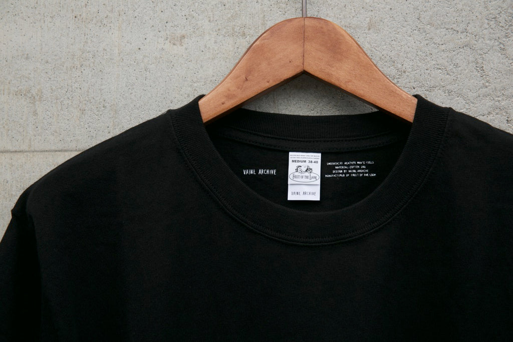VA × FRUIT SS TEE 20SS(BLACK) -VAINL ARCHIVE