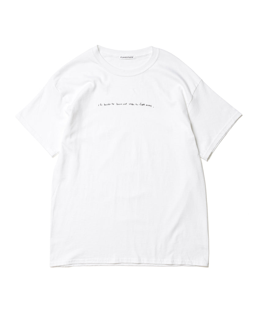 """Fade away"" Tee(WHITE) -FLAGSTUFF"
