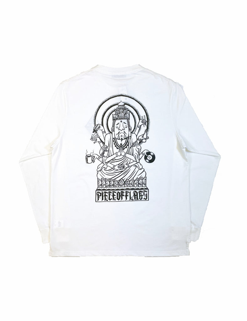 ESOW L/S TEE(WHITE) -PIECE OF FLAGS