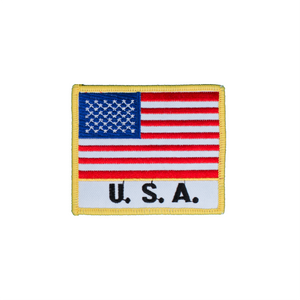 Flag Patch with Country Name (Black Letters)