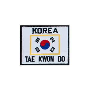 Korea Flag Patch with Black Border